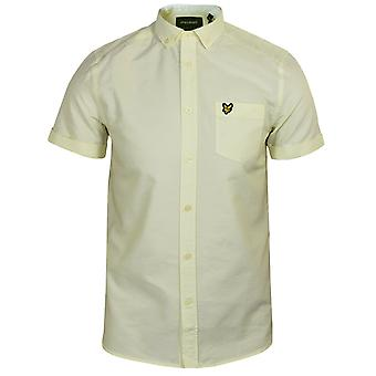 Lyle & scott men's buttercream and white oxford shirt