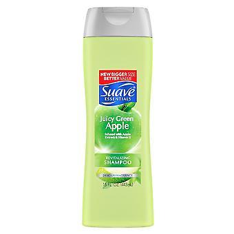 Suave essentials shampoo, juicy green apple, 15 oz