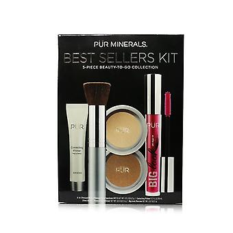 Pur (purminerals) Best Sellers Kit (5 Piece Beauty To Go Collection) (1x Primer 1x Powder 1x Bronzer 1x Mascara 1x Brush) - # Golden Medium - 5pcs