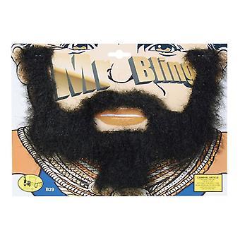 Mr Bling Beard + Tash Set