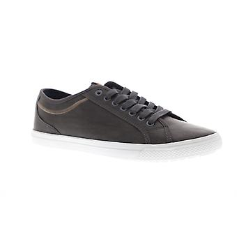 Ben Sherman Conall LO  Mens Gray Leather Casual Fashion Sneakers Shoes