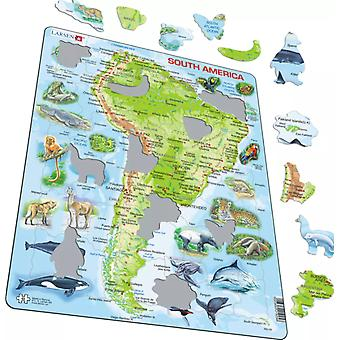 Larsen Jigsaw Puzzle - South America, 65 Piece