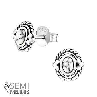 Ovaal - 925 Sterling Zilver opaal en Semi-kostbare Ear Studs - W36905x
