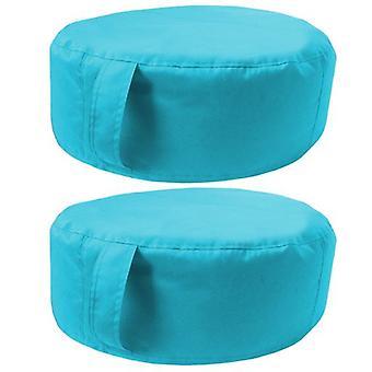 Bereit Steady Bett | Große Runde Ban Boden Garten Kissen. Ideal für drinnen und draußen, hergestellt aus wasserbeständigem Material. (Türkis, 1 Stk.)