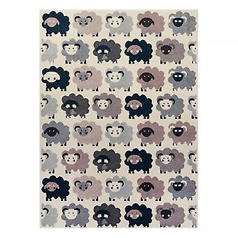 Rug HEOS 78468 cream / pink / blue / grey SHEEPS