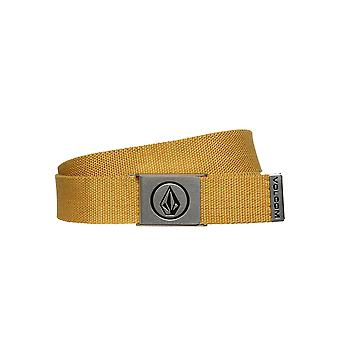 Volcom Woven  Web Belt With Bottle Opener ~ Circle gold