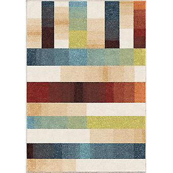 "62""x 90""x 0.31"" Stripes Stripes Multi Area Rug"