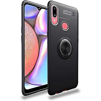 Stoßfestes Samsung Galaxy A10S Mobile Case mit Ringhalter - schwarz