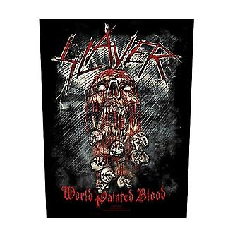 Slayer Back Patch World Painted Blood Band Logo new Official Black 36cm x 29cm