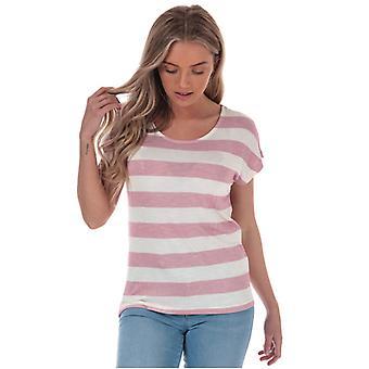Frauen's Vero Moda breiten Streifen T-Shirt in rosa
