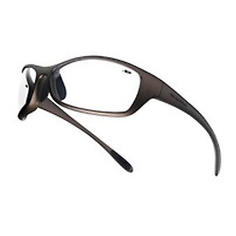 Bolle Spipsi Spider Glasses Bronze Nylon Frame /W Tipgrip And Tpe Comfort Clear