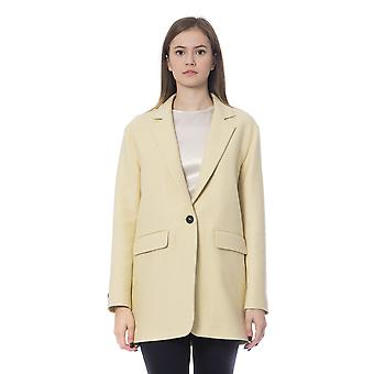 Peserico Giallo Single Breasted Lined Coat
