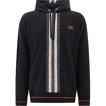Burberry 8026940a1189 Men's Black Cotton Sweatshirt