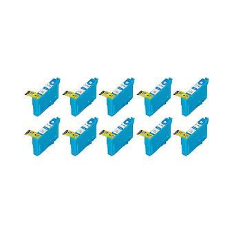 RudyTwos 10x Replacement for Epson Stag Ink Unit Cyan (Extra High Yield) Compatible with Stylus B42WD, BX525WD, BX535WD, BX625FWD, BX630FW, BX635FWD, BX925FWD, BX935FWD, SX525WD, SX535WD, SX620FW, Wor
