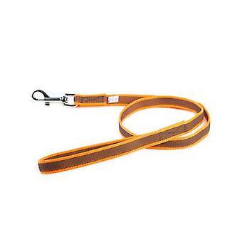 """Julius-K9 Farve og Grå Super-Grip Snor Orange-Grå Bredde (0,7""""/ 20mm) Længde (3ft / 1 m) Med håndtag, Max for £ 110 / 50 kg Hund"""