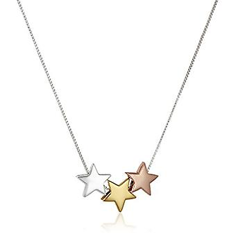 Tri Colored Sterling Silver with Yellow and Rose Gold, Silver, Size No Size