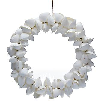 Gisela Graham 29cm Large Clam Shell Seaside Floristry Wreath to Decorate
