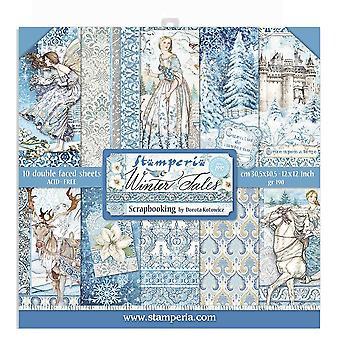 Stamperia Winter Tales 12x12 calowy papierowy pakiet