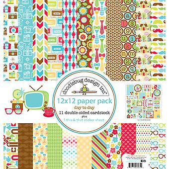 Doodlebug Design Day to Day 12x12 Inch Paper Pack