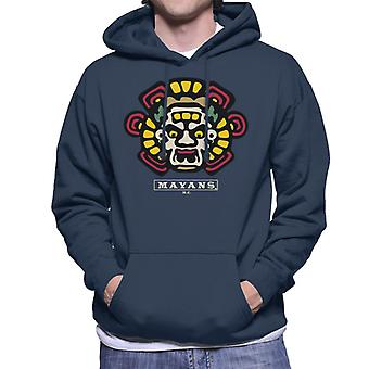 Mayans M.C. Motorcycle Club Face Colour Logo Emblem Men's Hooded Sweatshirt