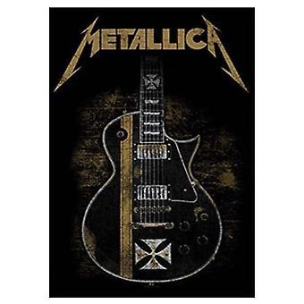 Metallica Poster Hetfield Guitar Official New Black Textile Flag 70cm x 106cm
