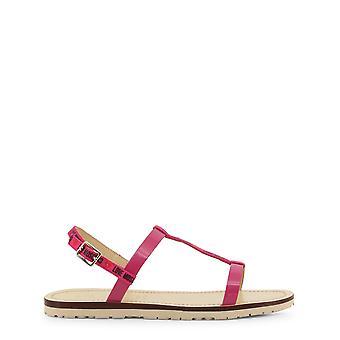 Amor moschino ja16421 mujeres's sandalias de cuero de tela