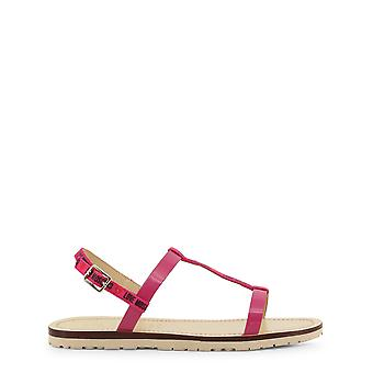 Love moschino ja16421 women's fabric leather sandals