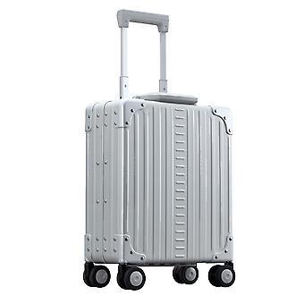 "ALEON Vertical Underseat Carry-On 16"" Carro de equipaje de mano 4 ruedas, 32 cm, 15.8 L, plata"