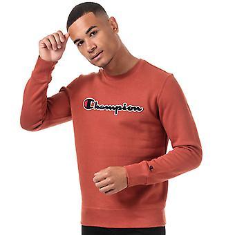 Heren's Kampioen Groot Logo Sweatshirt in Oranje