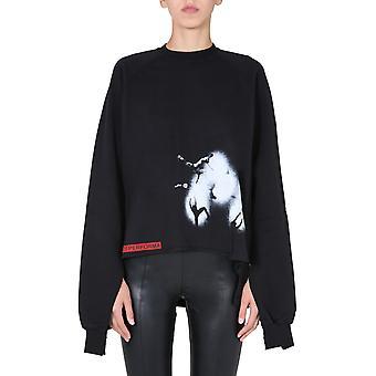 Rick Owens Drkshdw Ds20f1210rnfep309110 Women's Black Cotton Sweatshirt