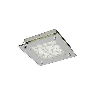 Inspirert Mantra Fusion - Coral - Flush 25cm Square 15.5W LED 4000K Chrome, Krystall Sand, 620lm,