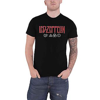 Led Zeppelin T Shirt Logo and Symbols Band Logo new Official Mens Black
