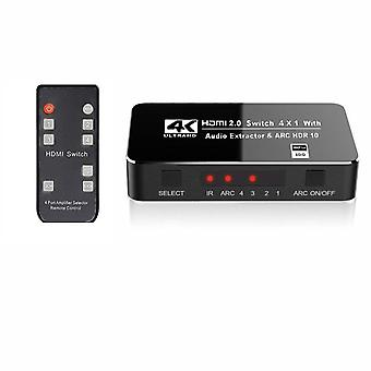 HDMI 2.0 Switch with 4 entrances 4x1 - 3D/4K
