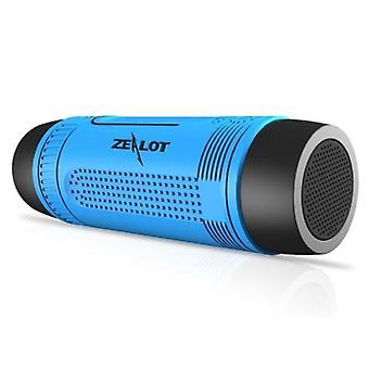 Zealot S1 Wireless Speaker with Flashlight for Bicycle - Soundbar Wireless Bluetooth 5.0 Speaker Box Blue