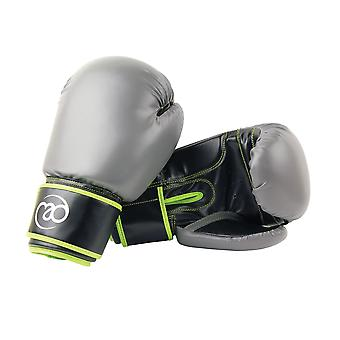 Fitness Mad PVC Sparring Gloves Green/Grey-14oz