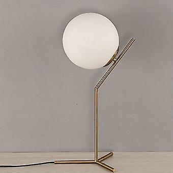 Modern Glass Ball Table Lamps, Gold Nordic Desk Lamp For Home Decor Led Table