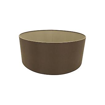 50 Cm Cylinder Fabric Lampshade Raw Cocoa/grecian Bronze