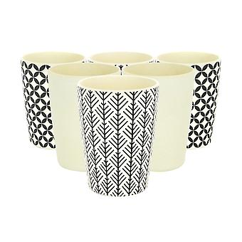 Rink Drink Bamboo Reluable Tumblers - 350ml - 3 Designs - Ensemble de 6 Coupes eco friendly party