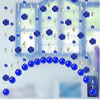 Crystal Glass Rose Bead Curtain Luxury Living Room Window Door Wedding Decor