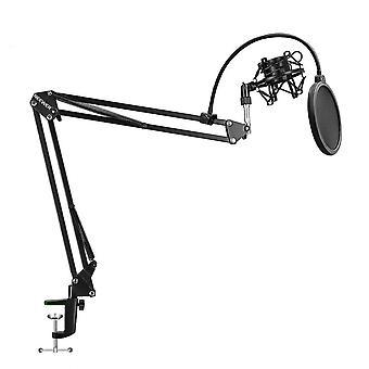 ميكروفون مقص ذراع حامل مقطع ميكروفون وطاولة تصاعد