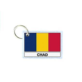 Porte cles cle clefs imprime double face drapeau Td tchad