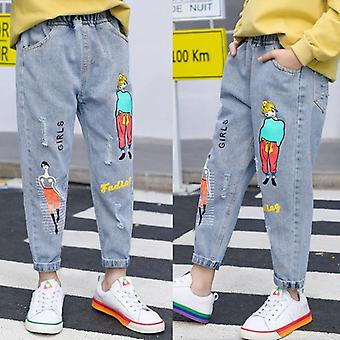 Kids Jeans' Cartoon Graffiti Jeans-'s Boutique Fashion Printed Jeans, Elastic