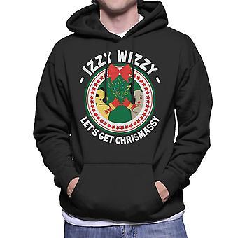 Sooty Christmas Izzy Wizzy Lets Get Chrismassy Men's Hooded Sweatshirt