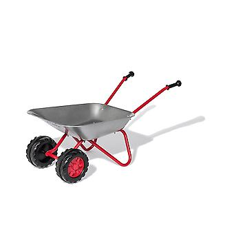 Rolly toys metal wheelbarrow with double front wheel for 2.5 years+ old - yellow