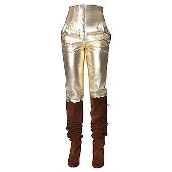 Alberta Ferretti 370551830613 Damen's Gold Lederhose