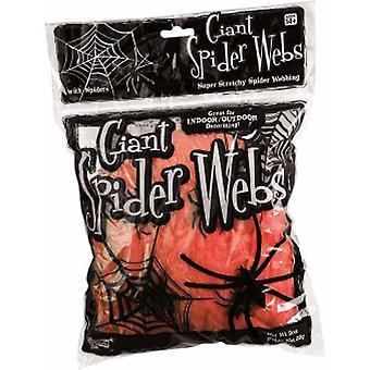 Forum-uutuudet Halloween Naamiaispukutarvikkeet - Super Stretch Giant Spider Web Party Decoration With Spiders - Neon