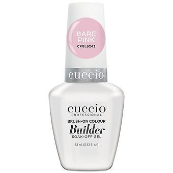 Cuccio LED/UV Soak Off Gel Polish Brush On Colour Builder - Bare Pink 13ml (CPGL6243)