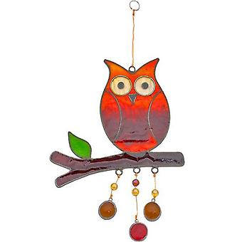 Something Different Owl On A Branch Sun Catcher