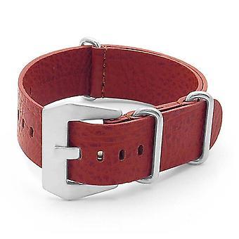 Strapsco dassari concrete textured italian leather nato strap