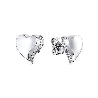 charlotte hjerte diamant øredobb